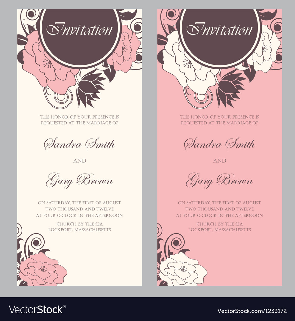 Wedding Invitation floral card
