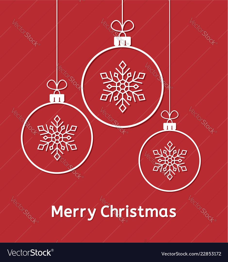 Winter holiday of christmas balls