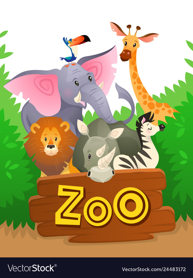 Zoo animals african safari wildlife cute groups