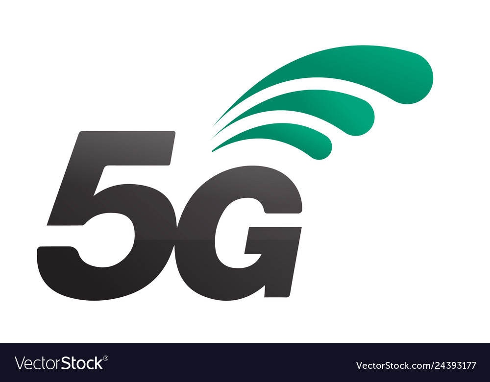 5th generation mobile network logotype isolated