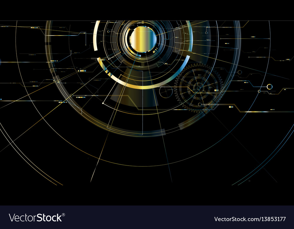 Abstract technological metallic space background