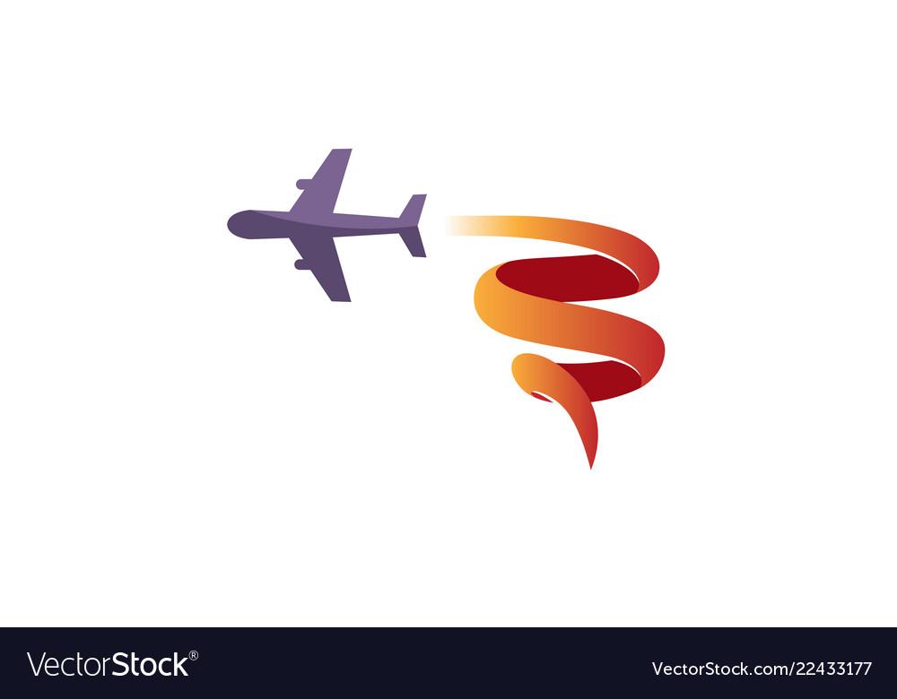 Aircraft fly symbolic creative air logo