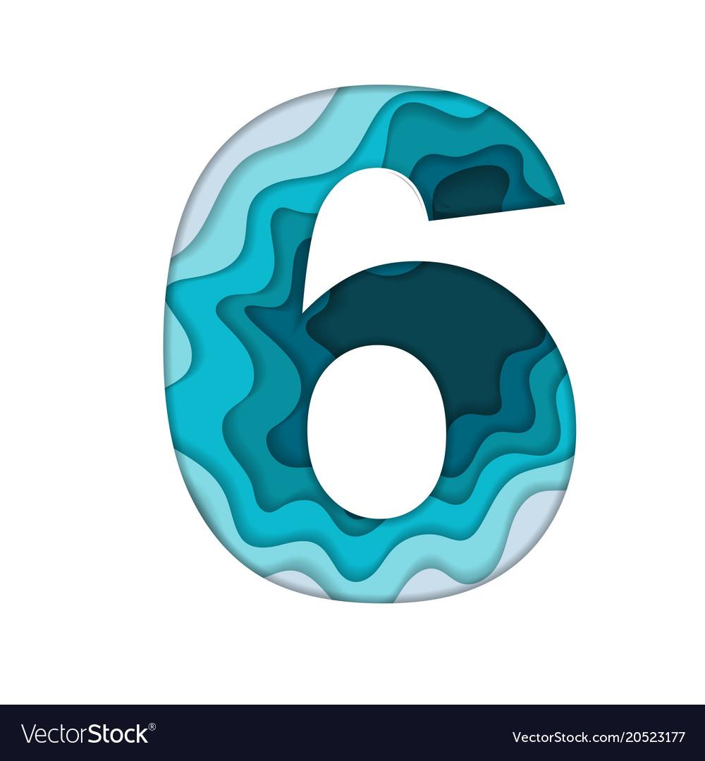 Blue number six