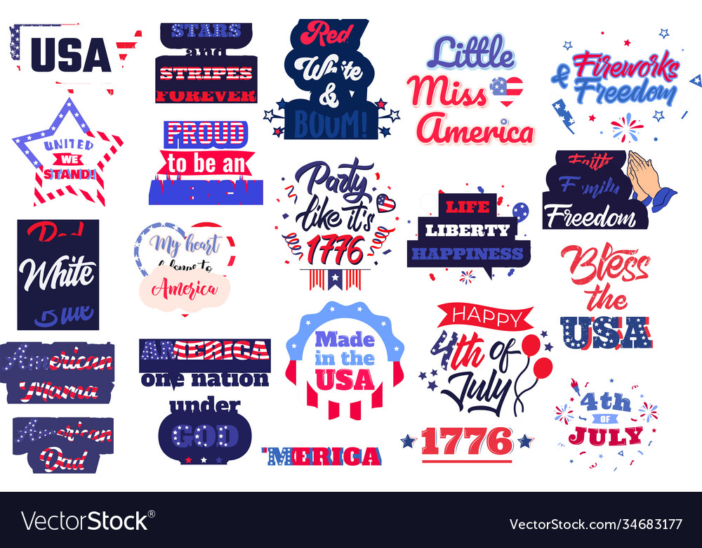 Collection 4th july phrases slogans or