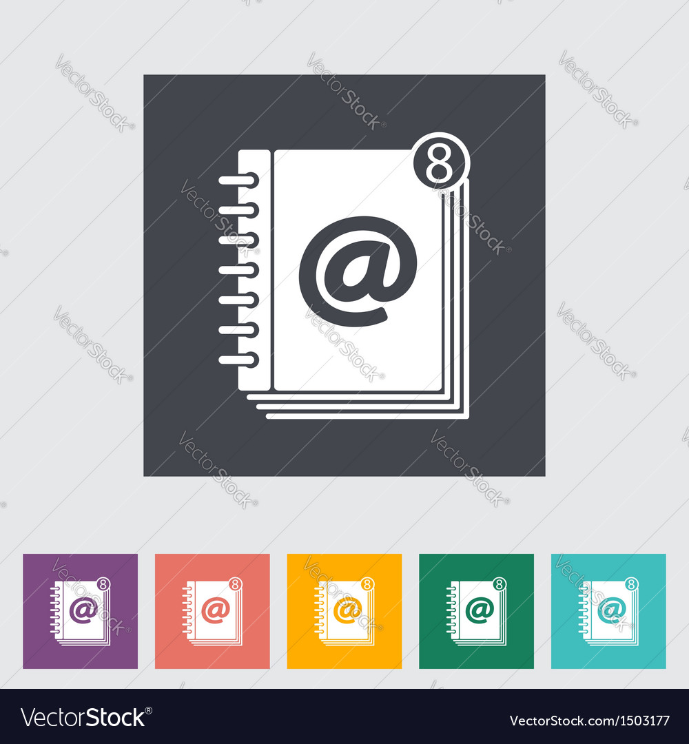 Contact book 2 vector image