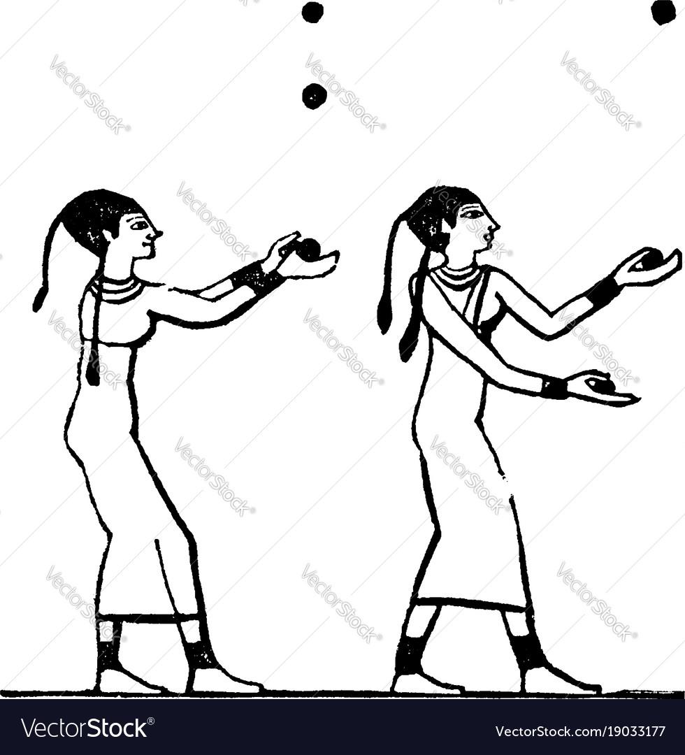 Egyptian ball games sport vintage