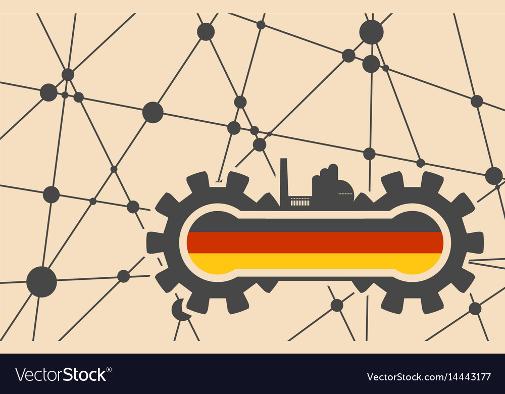 Flag of the germany build in gear