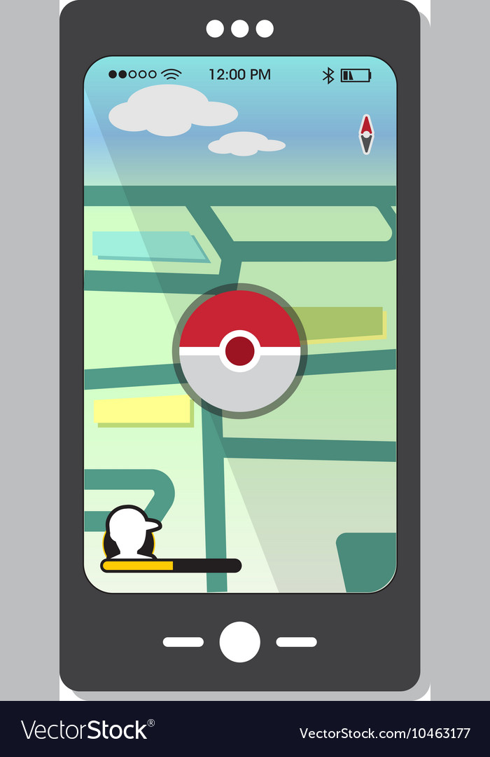 Mobile video game design elements and template vector image