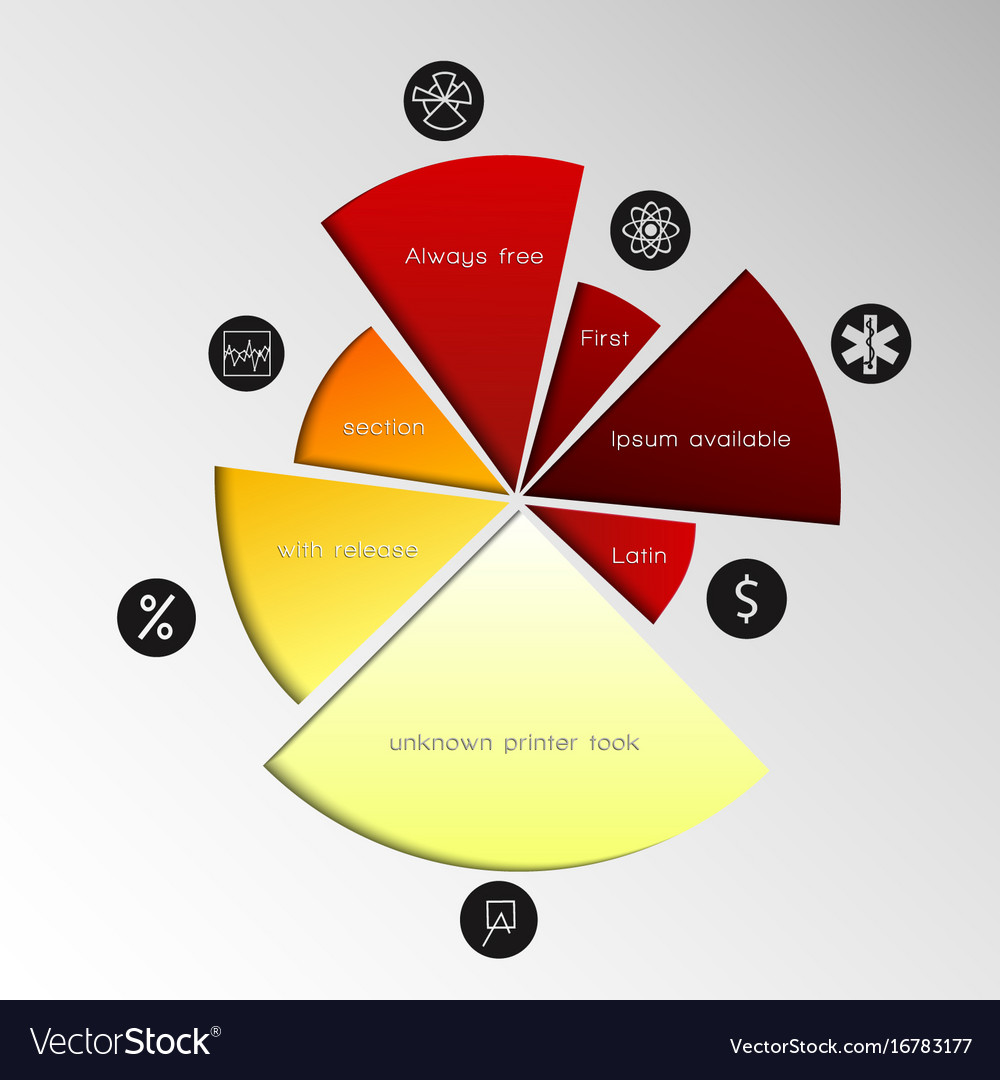 pie chart template royalty free vector image vectorstock
