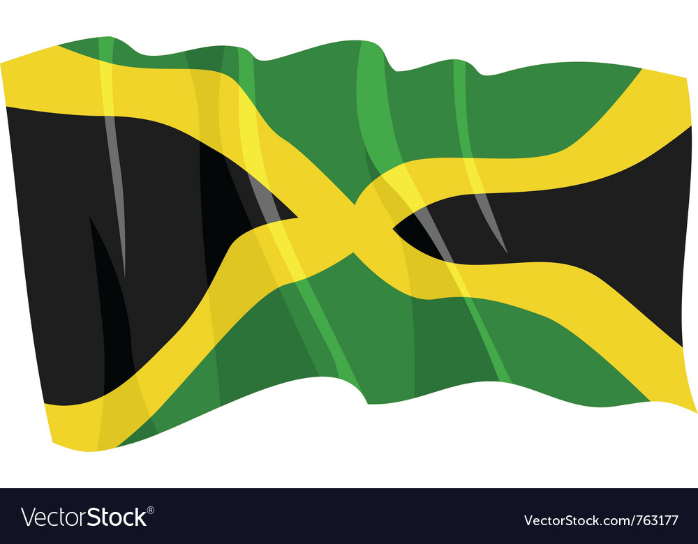 Political waving flag of jamaica vector image