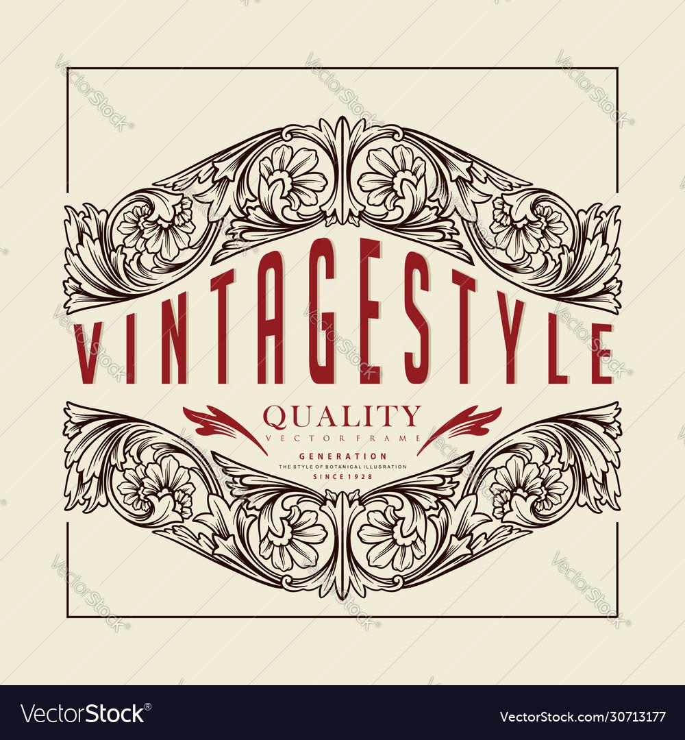 Premium quality label vintage style badges