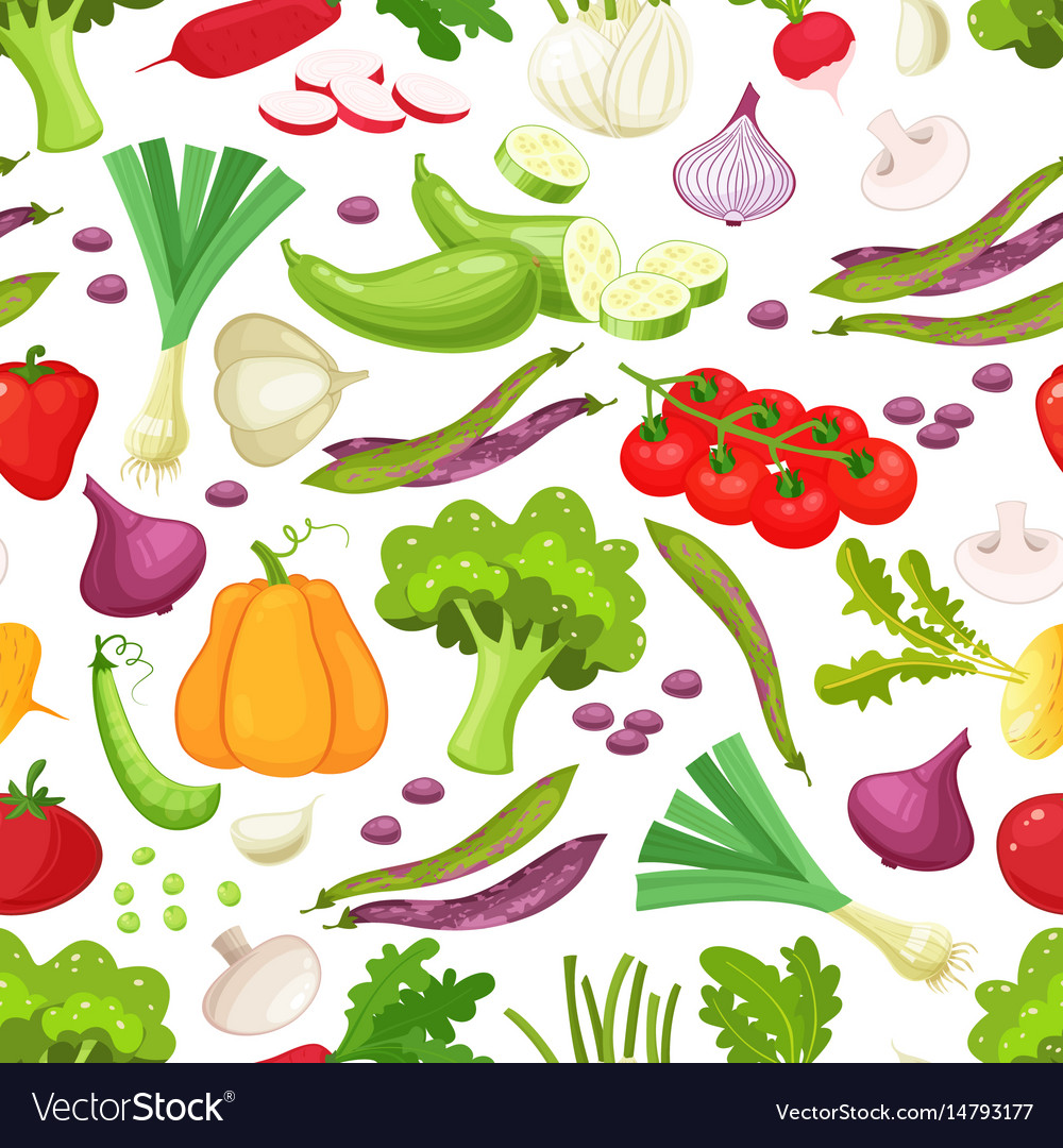 Raw vegetables with sliced pepper eggplant garlic