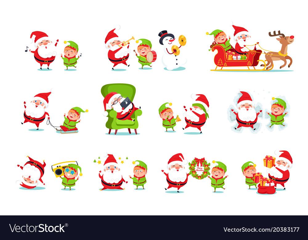 Santa claus helper activities