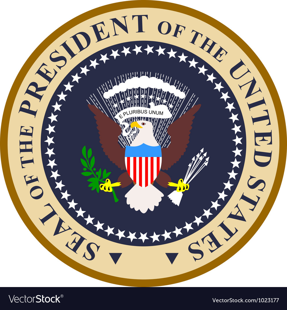 seal of the president of the united states of vector image rh vectorstock com presidential seal vector art HHS Logo Vector