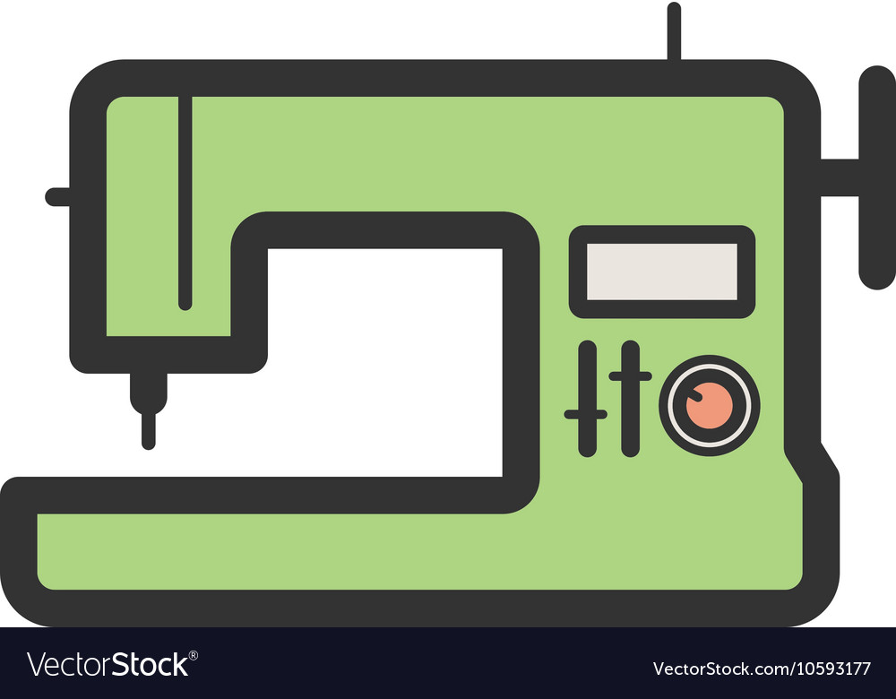 Sewing Machine Royalty Free Vector Image VectorStock Adorable Sewing Machine Vector Free