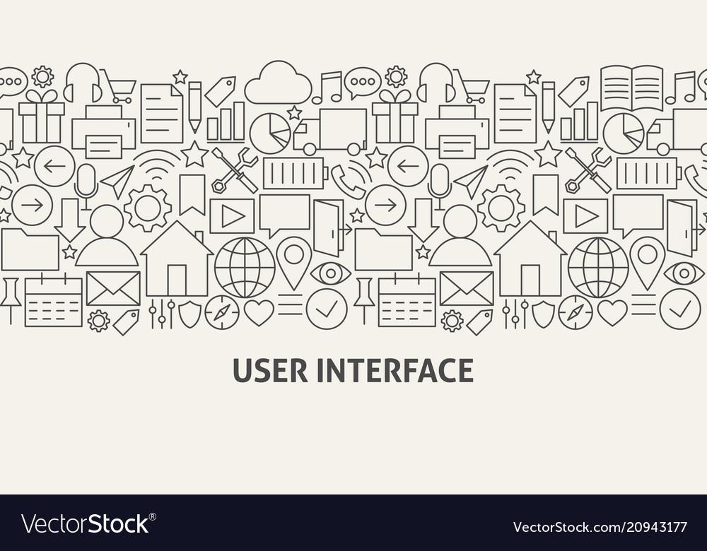 User interface banner concept