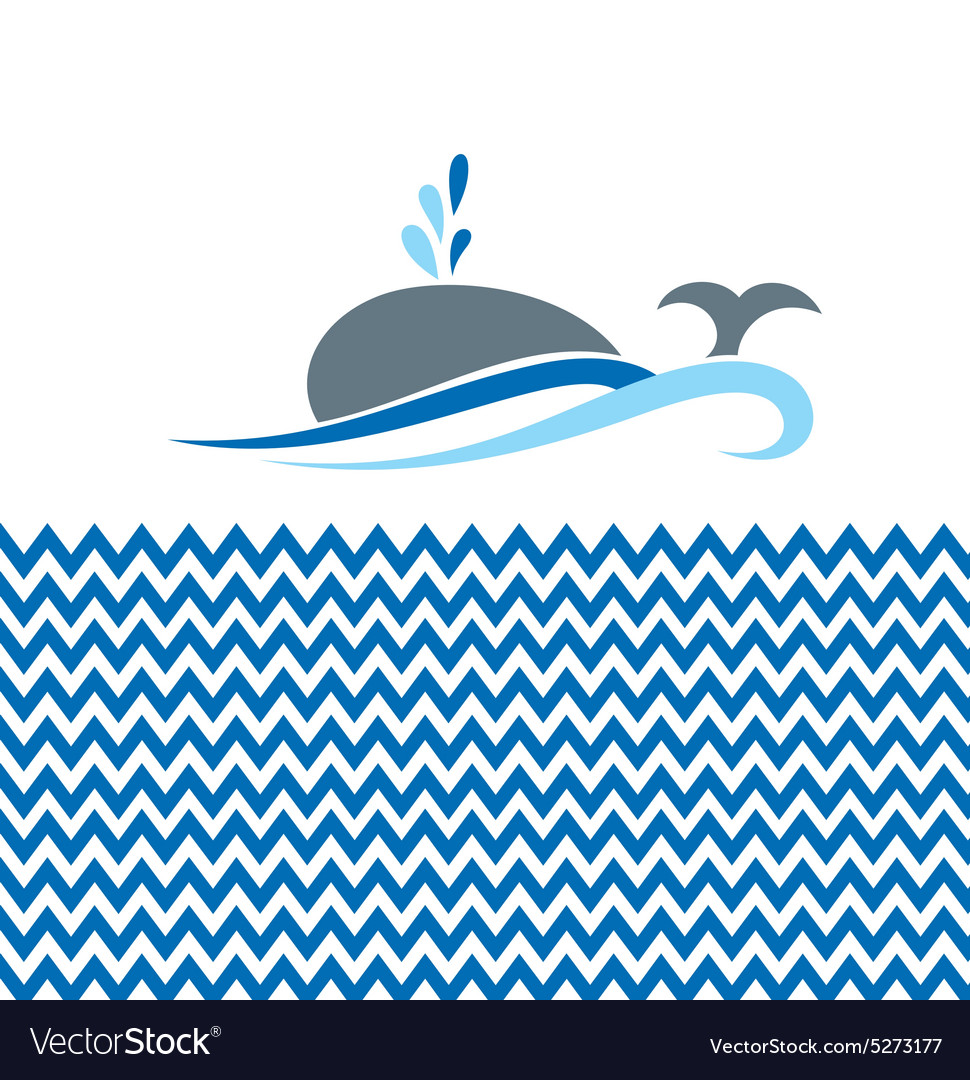 With whale vector image