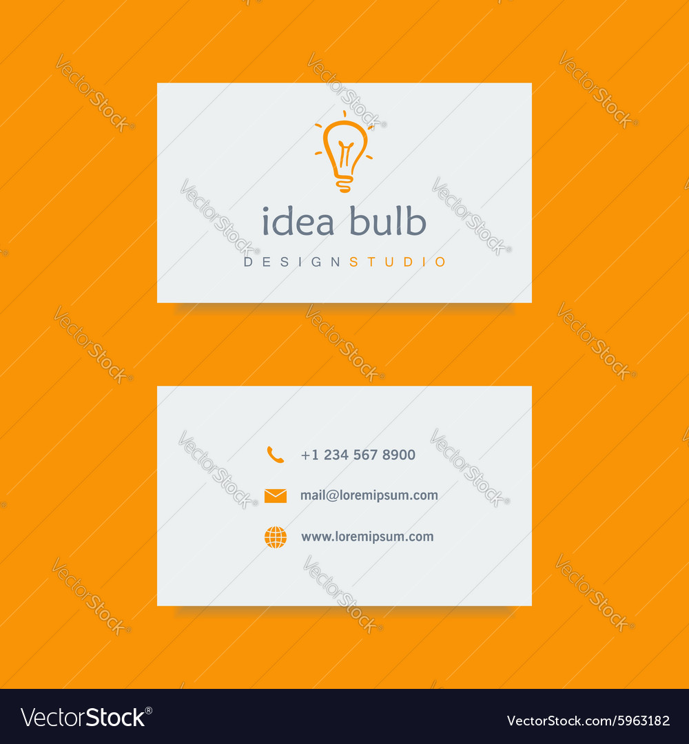 Design studio business card template vector image