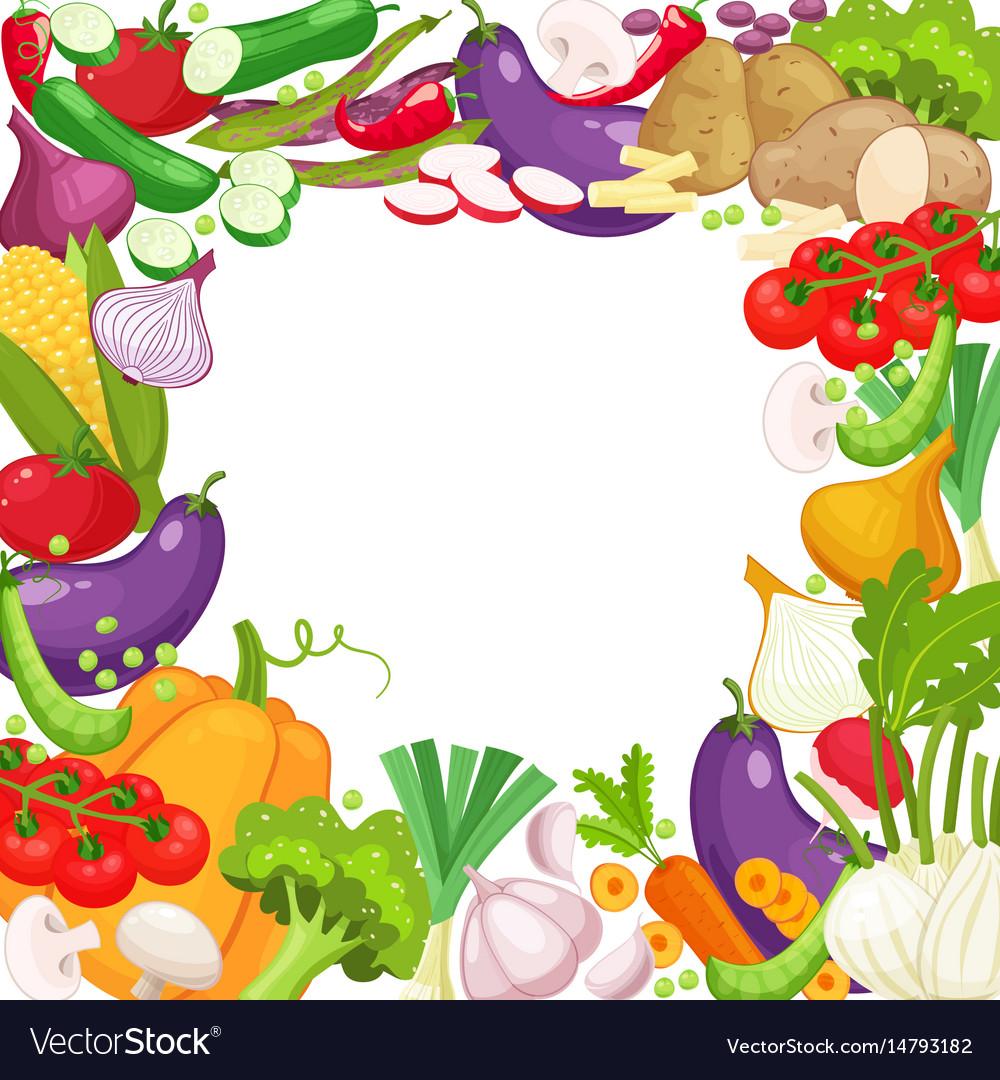 Frame of fresh vegetables for your design