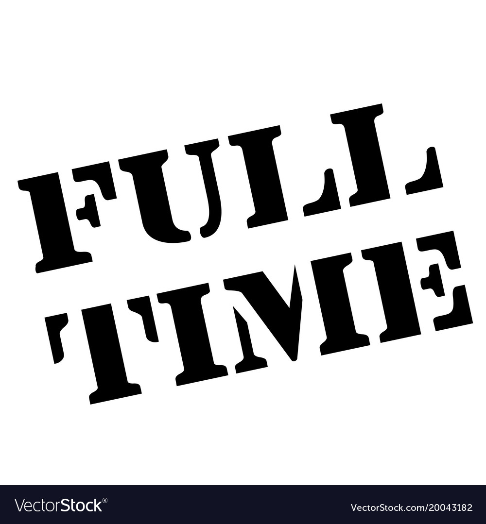 Full-time stamp typographic stamp vector image