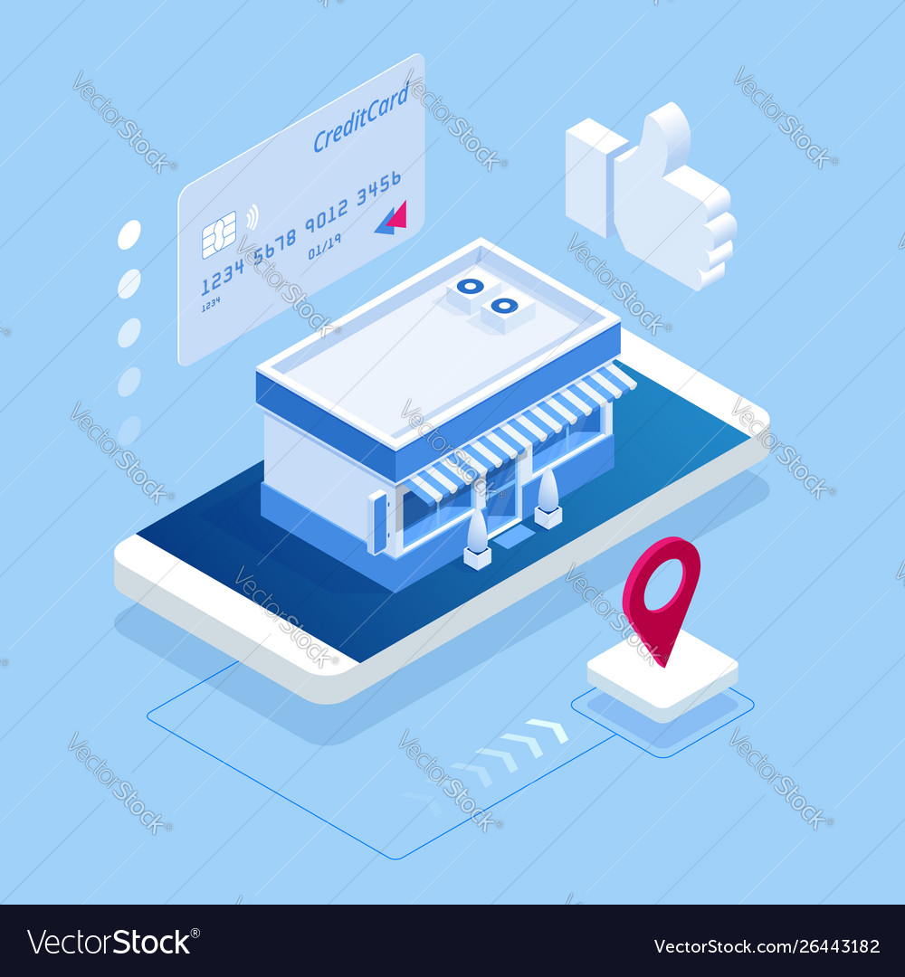Isometric buying products through a mobile