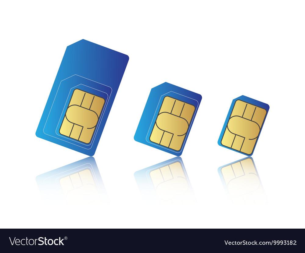 Mobile phone sim card set