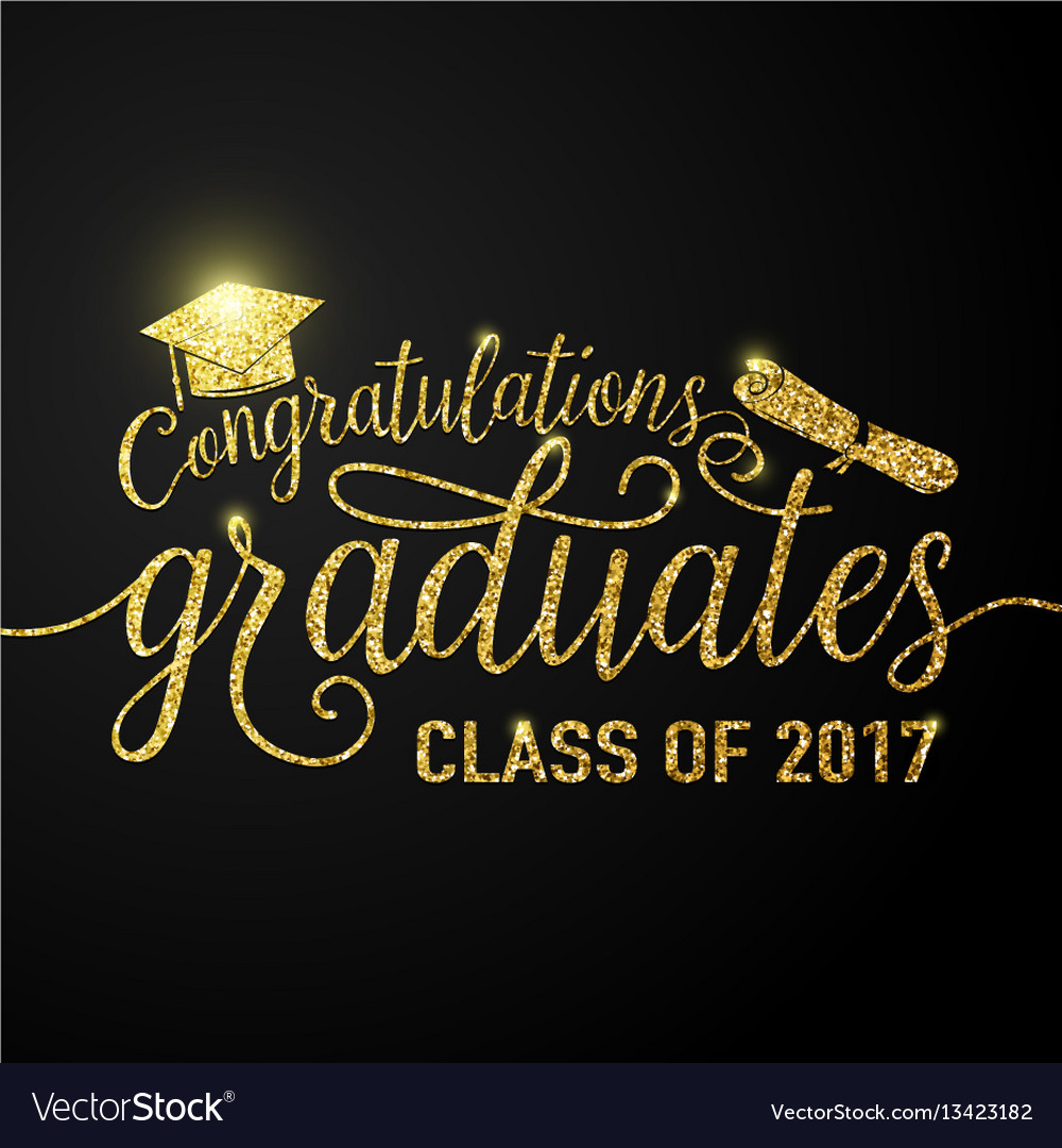 On black graduations background