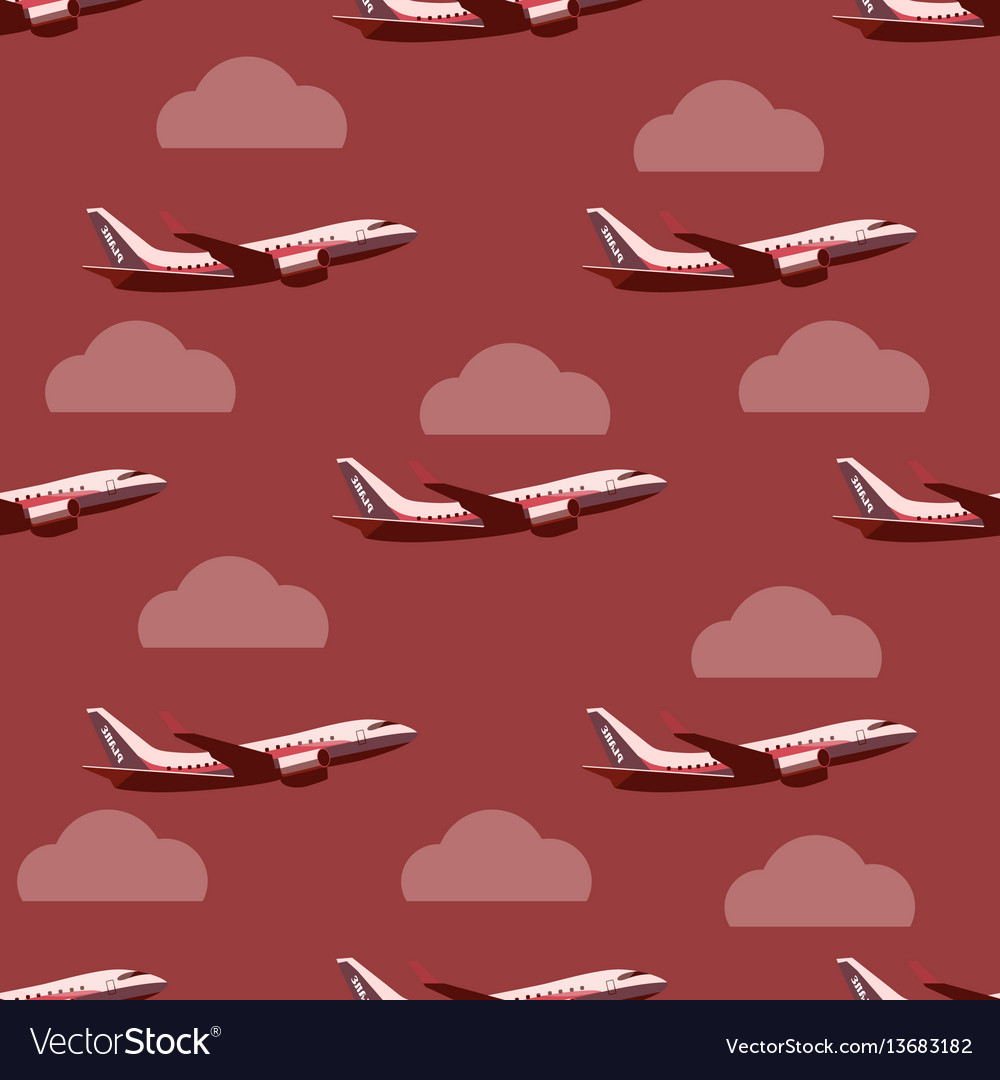 Pane in the sky seamless pattern