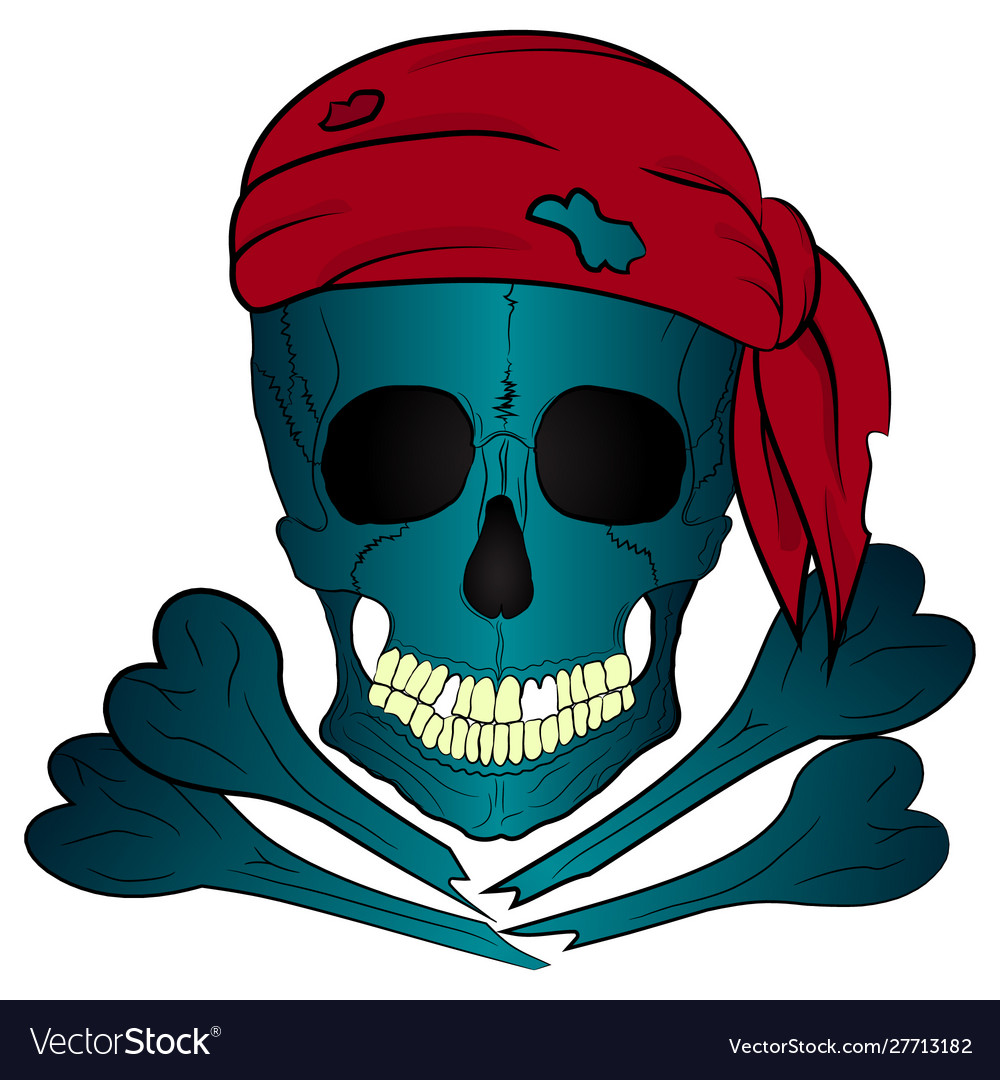Pirate skull and bones bandana