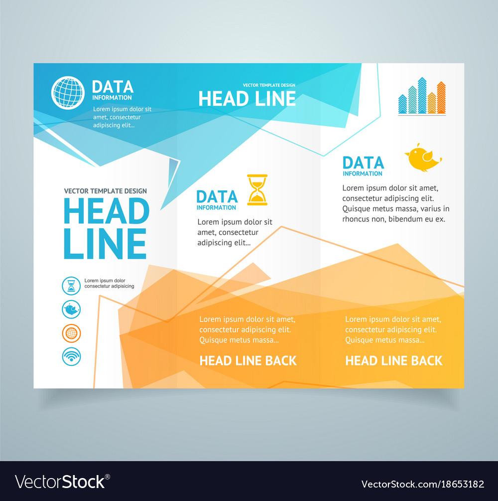 Realistic 3d detailed leaflet booklet