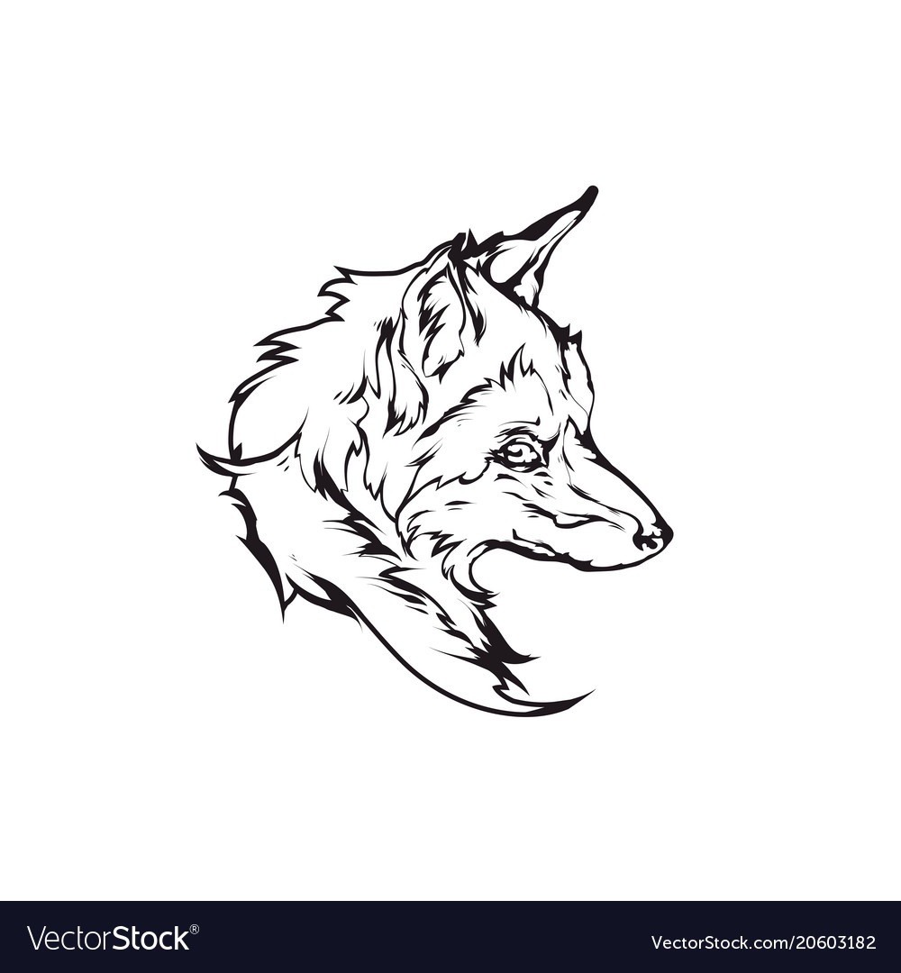 Red fox head emblem