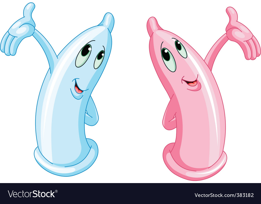 Two funny condoms