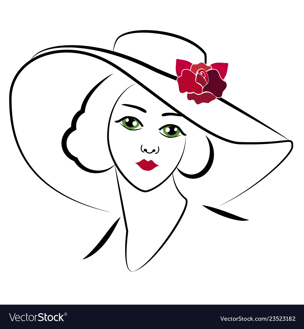 Woman with hat 6