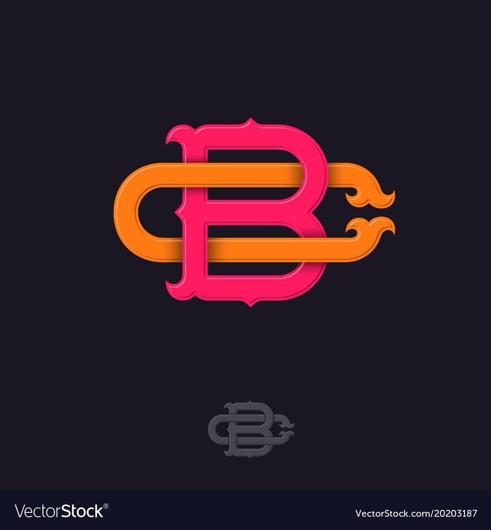 B c monogram