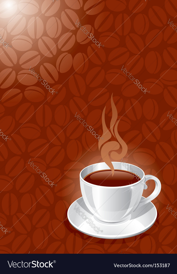 Background with white glossy cup