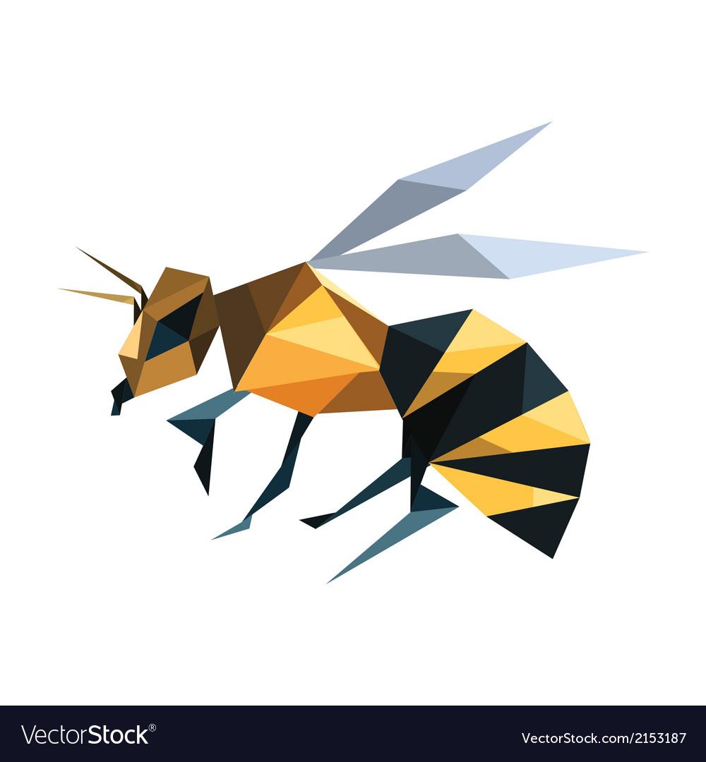 Bee Origami Vector Image