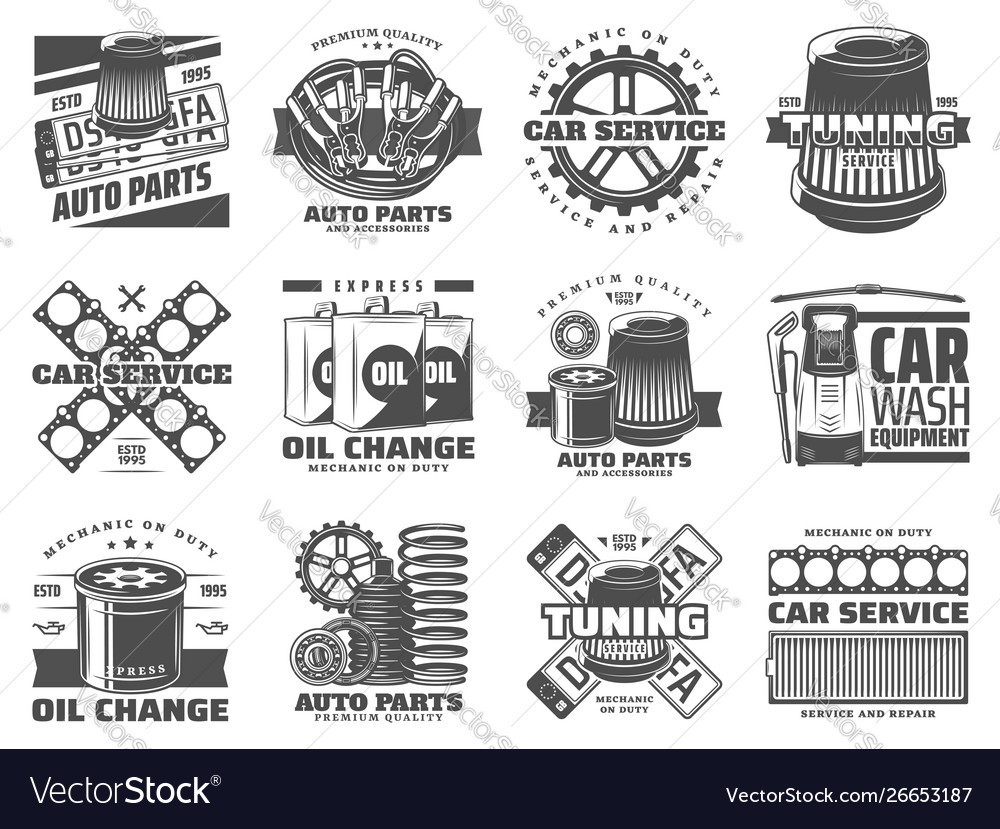 Car service spare parts auto tuning and motor oil