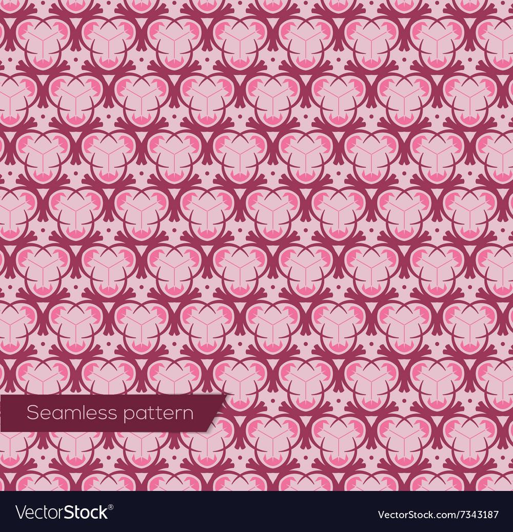 Geometric design seamless pattern in art nouveau