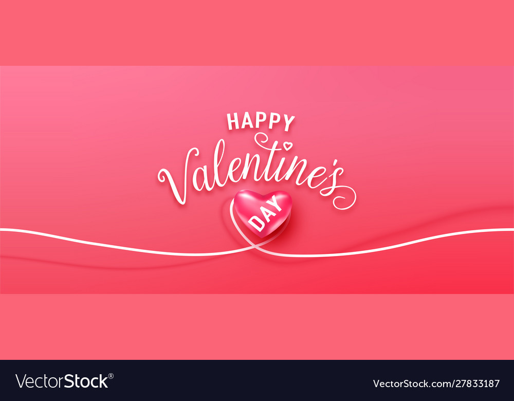 Happy valentines day greeting background in