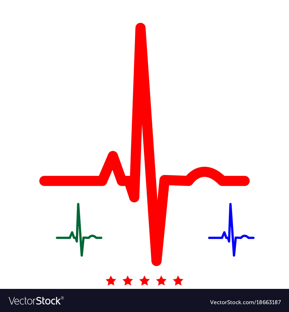 heart rhythm ekg icon flat style royalty free vector image rh vectorstock com ekg vector art ekg vector diagram