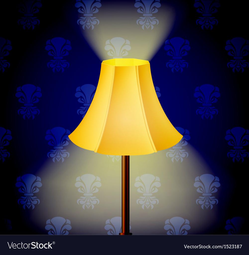 Lamp in dark vector image