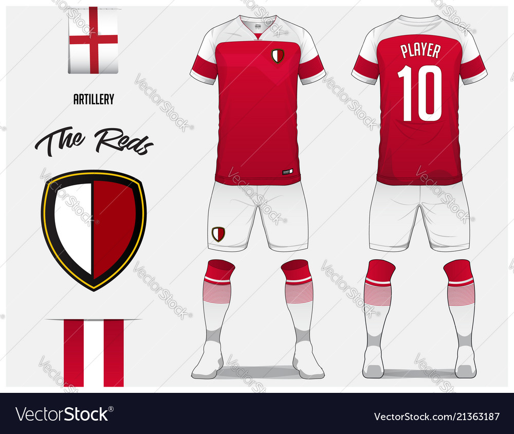 soccer jersey or football kit template royalty free vector