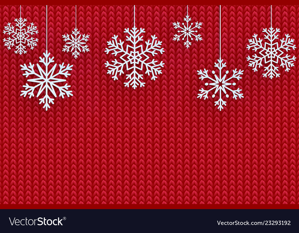 Christmas background with decorative snowflake