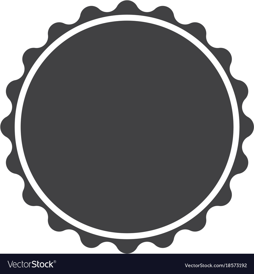 Circle Seal Stamp Lace On White Background Vector Image