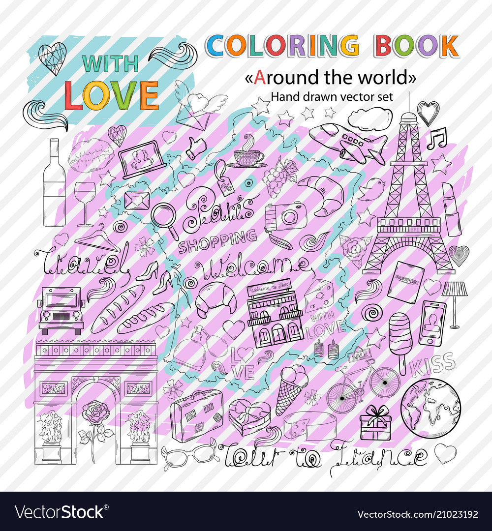 Coloring book tour to france