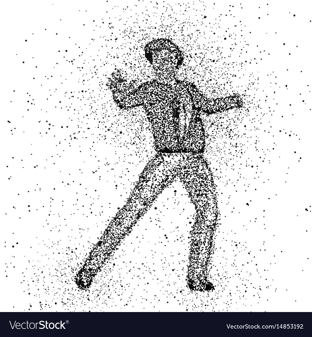 Male figure made with dots