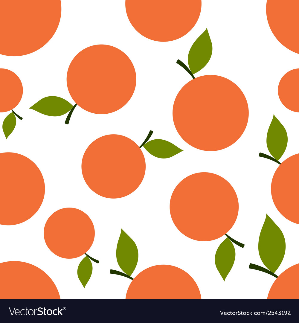 Pattern Silhouette Mandarines