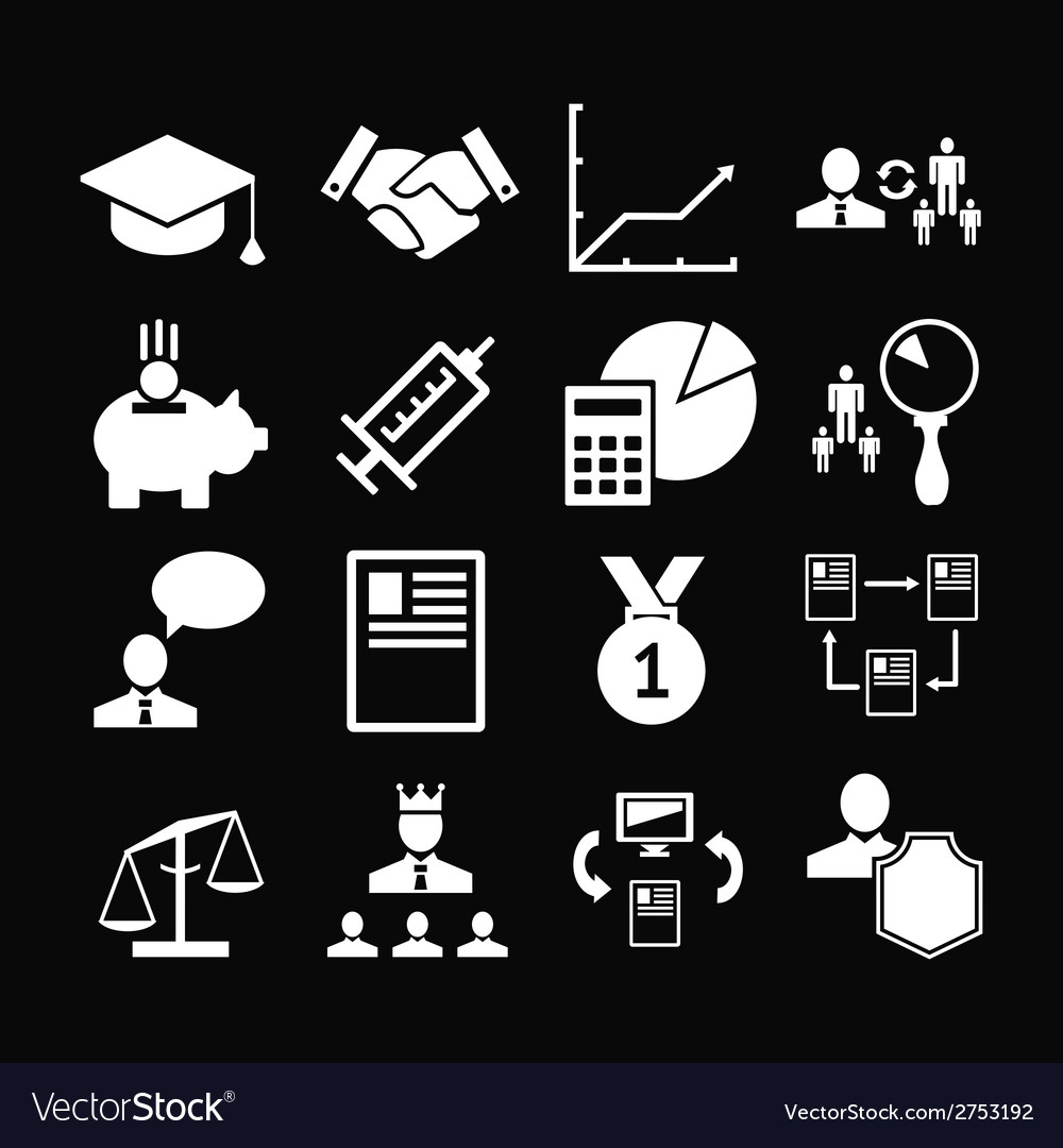 Set icons of human resources management