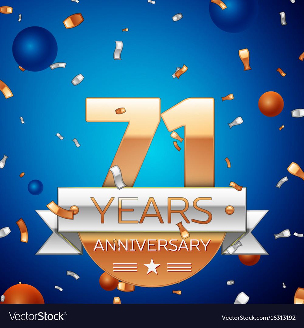 Seventy one years anniversary celebration design