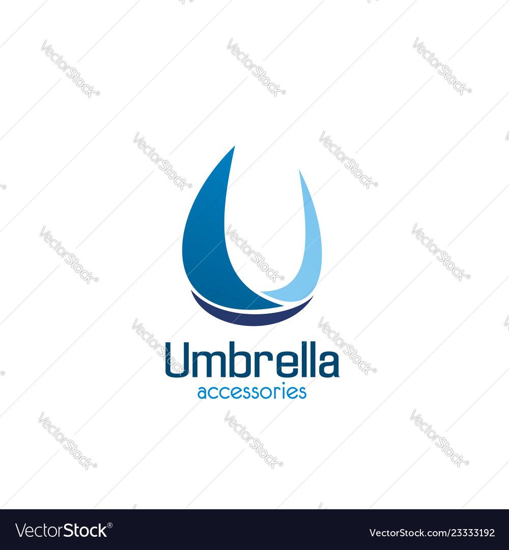 Umbrella accessories u letter icon